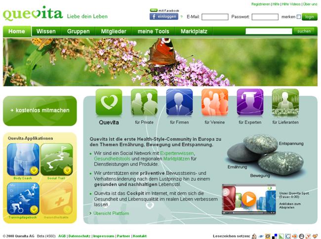 quevita homepage