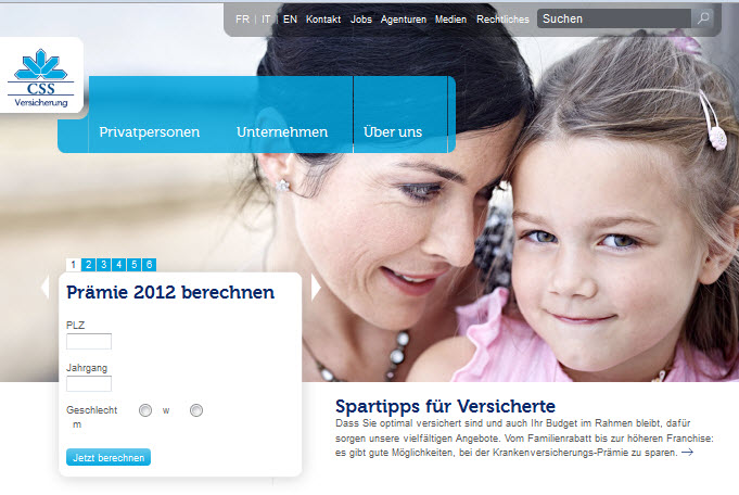 CSS Webseite