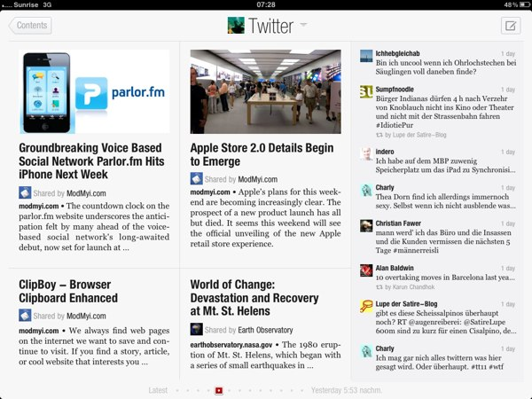 Flipboard for iPad - Geniale Applikation!