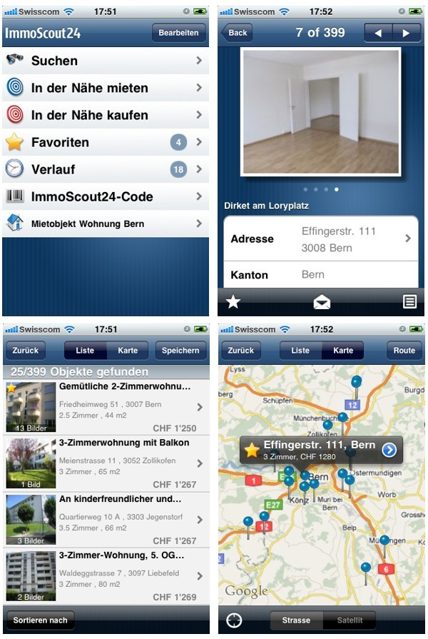 ImmoScout für iPhone