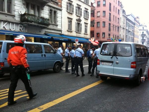 aufmarsch der polizei