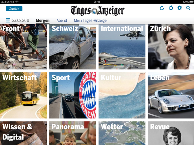 ipad app des tages-anzeigers