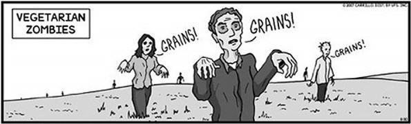 vegetarier zombies